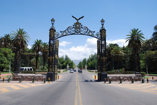 A bela entrada do Parque