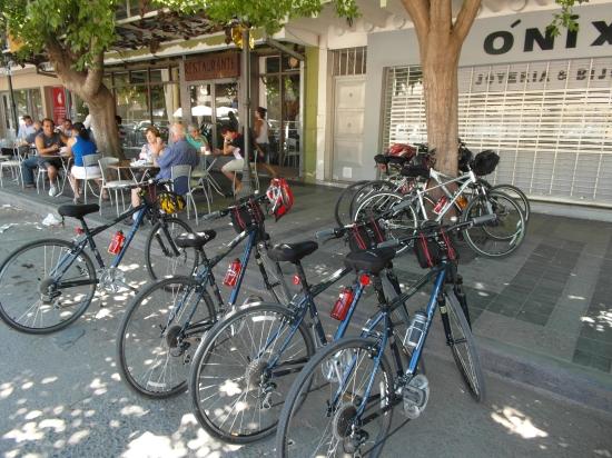 As bikes, prontas para a acao